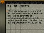 the pilot programs13