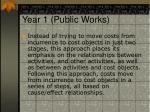 year 1 public works
