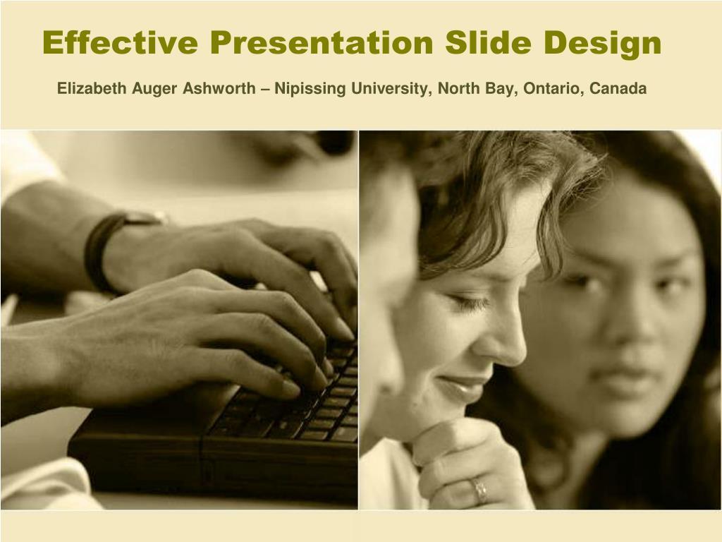 effective presentation slide design l.