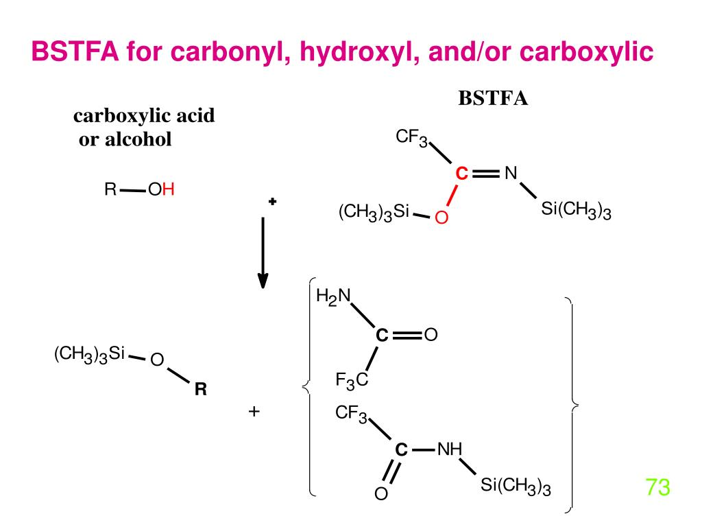 BSTFA for carbonyl, hydroxyl, and/or carboxylic