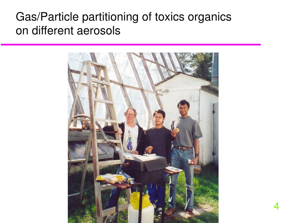 Gas/Particle partitioning of toxics organics on different aerosols