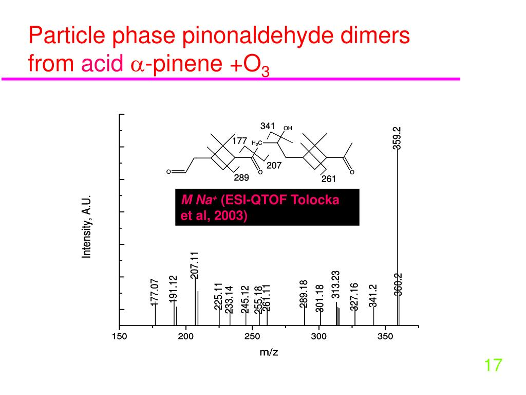 Particle phase pinonaldehyde dimers from