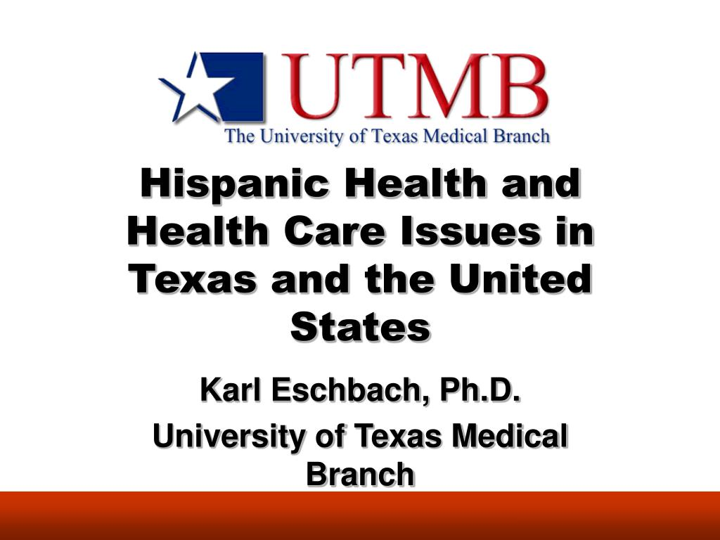 Hispanic Health and Health Care Issues in Texas and the United States