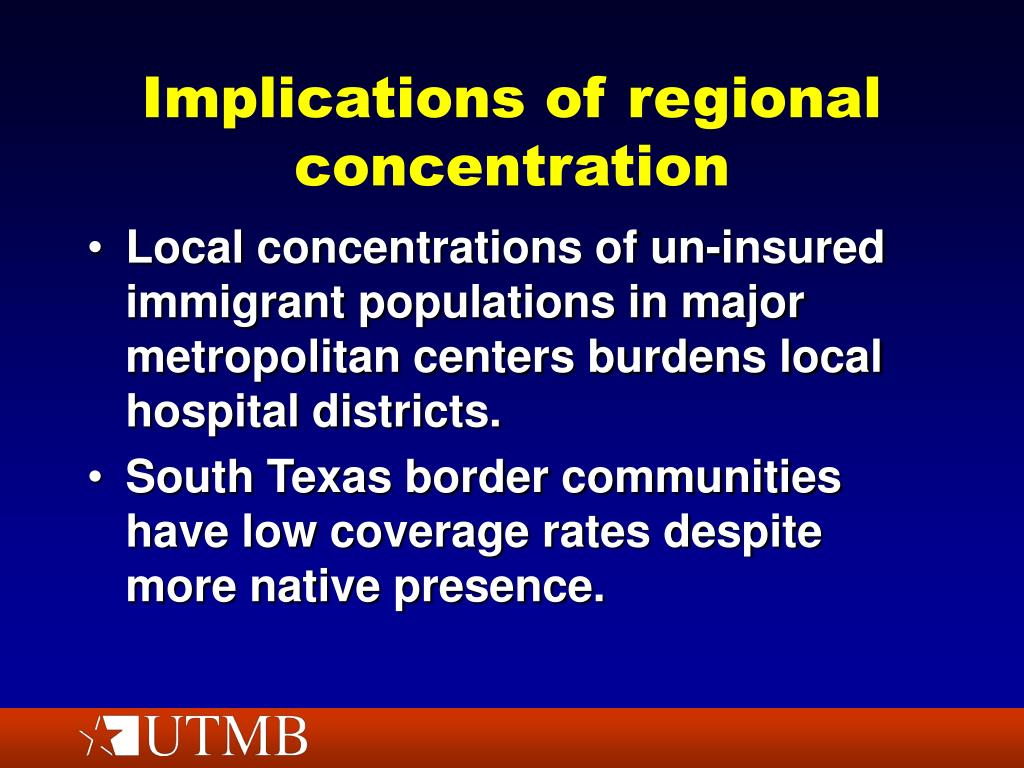 Implications of regional concentration