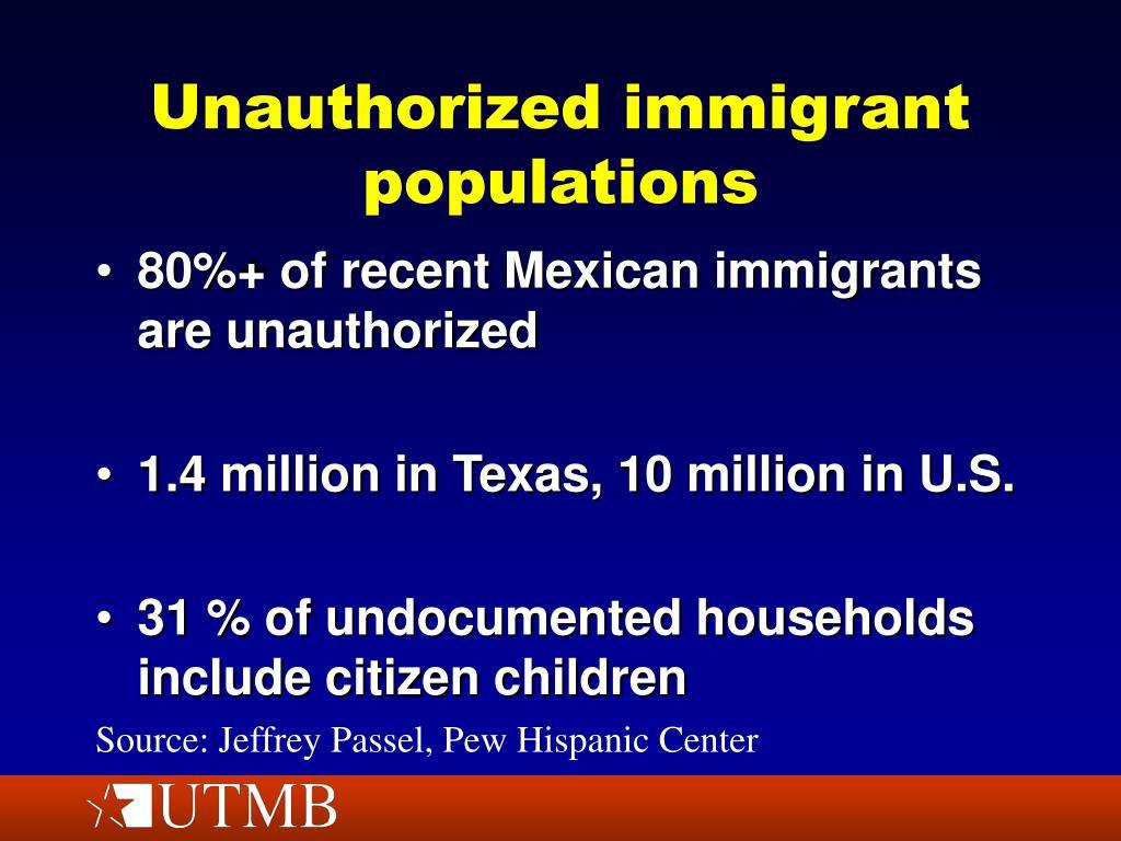 Unauthorized immigrant populations