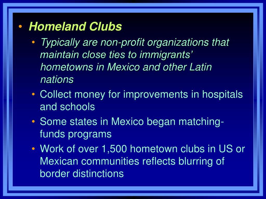 Homeland Clubs