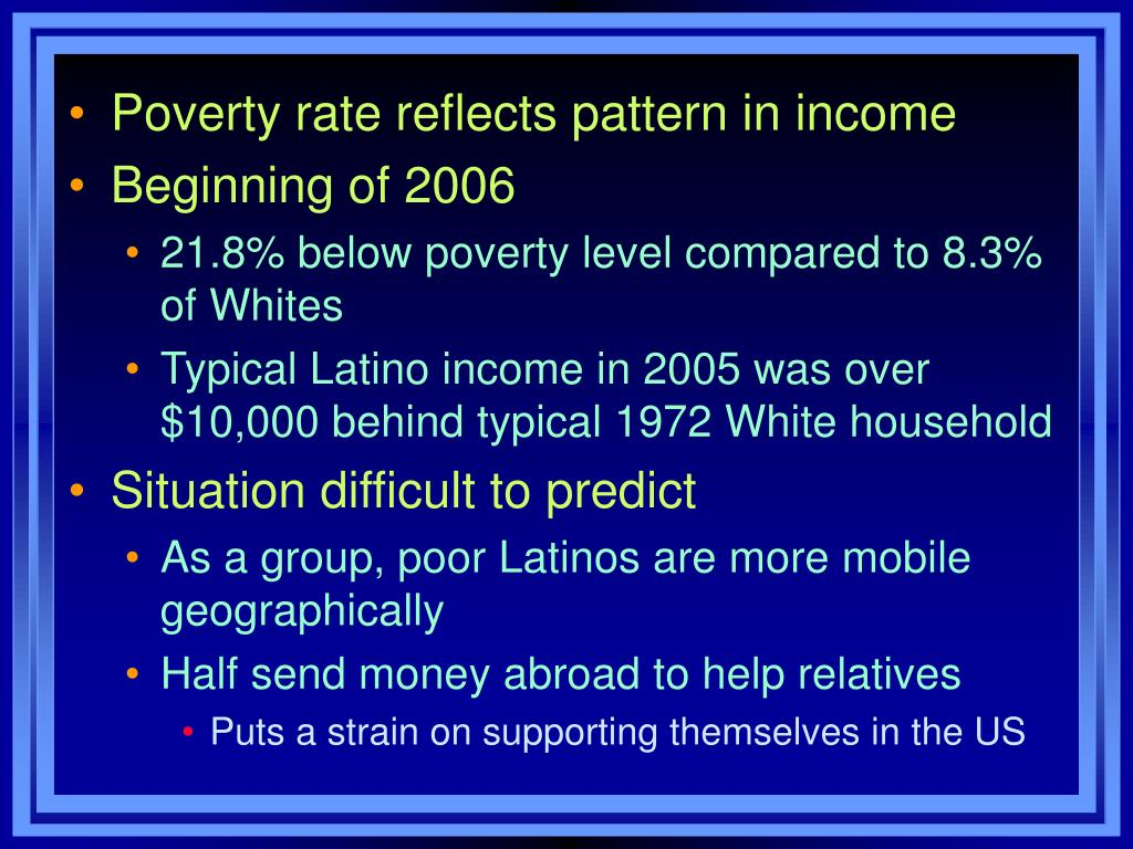 Poverty rate reflects pattern in income