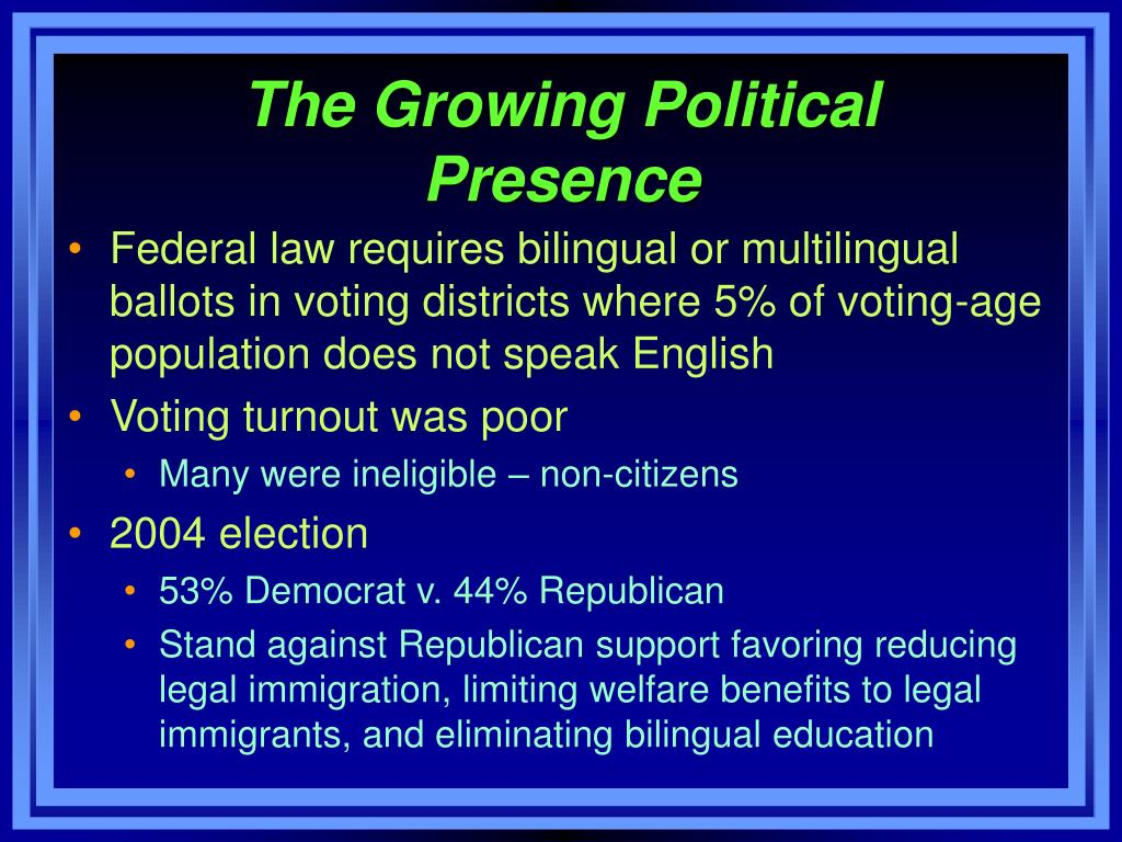 The Growing Political Presence