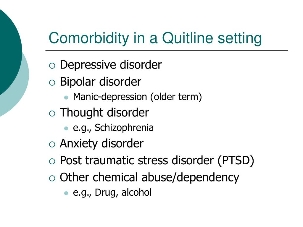 Comorbidity in a Quitline setting