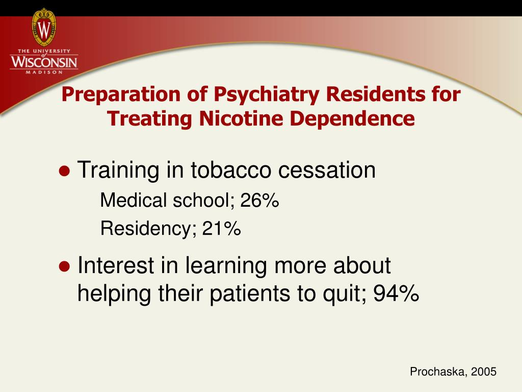 Preparation of Psychiatry Residents for Treating Nicotine Dependence