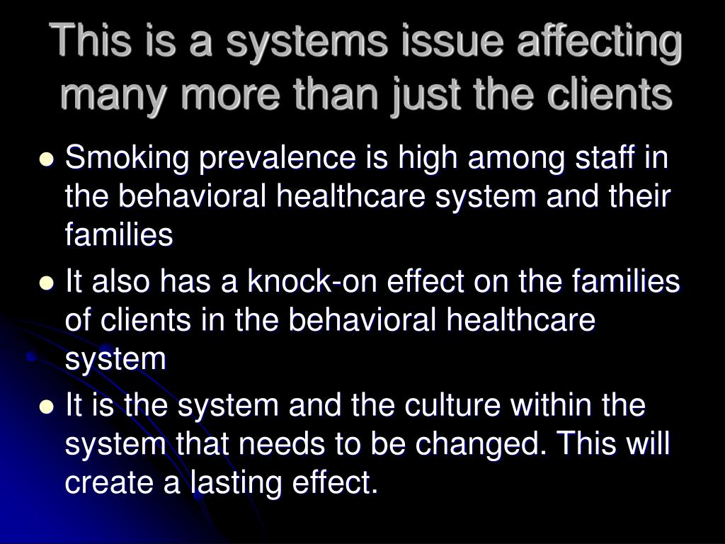This is a systems issue affecting many more than just the clients