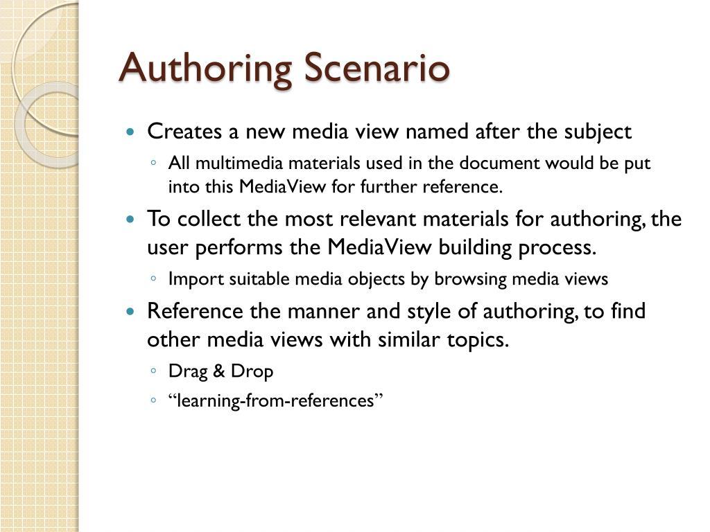Authoring Scenario