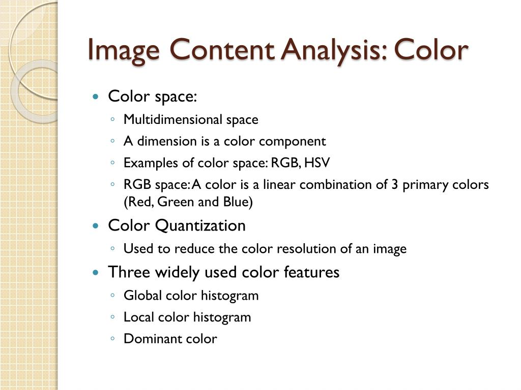Image Content Analysis: Color