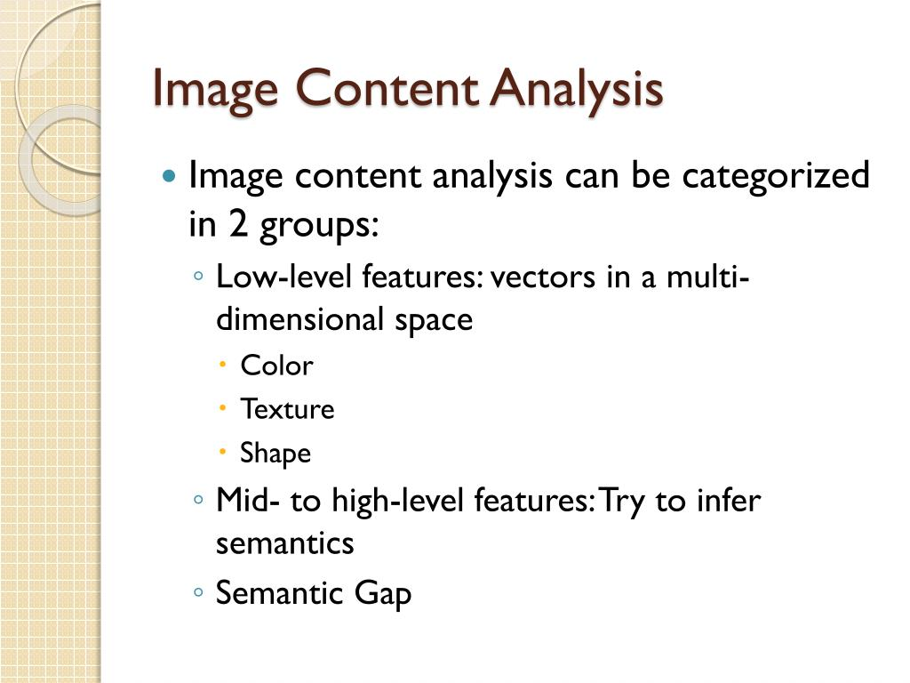Image Content Analysis
