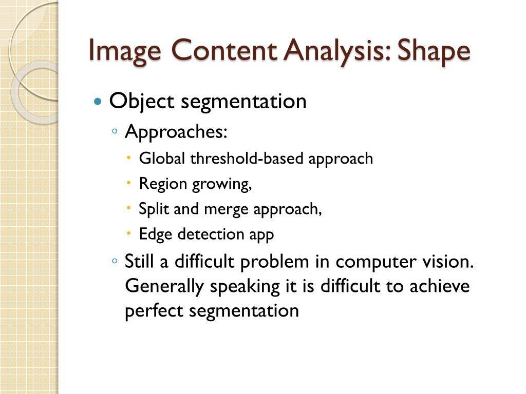 Image Content Analysis: Shape