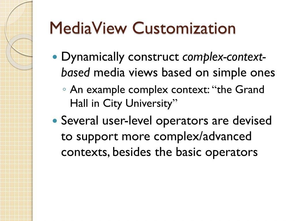 MediaView Customization