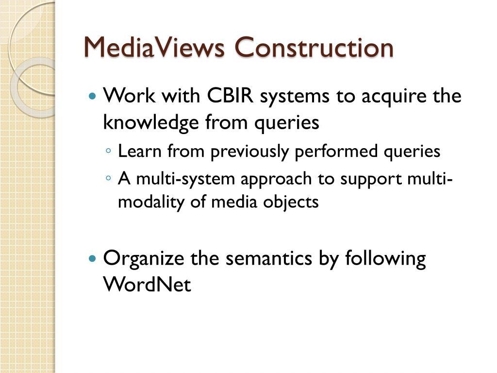 MediaViews Construction