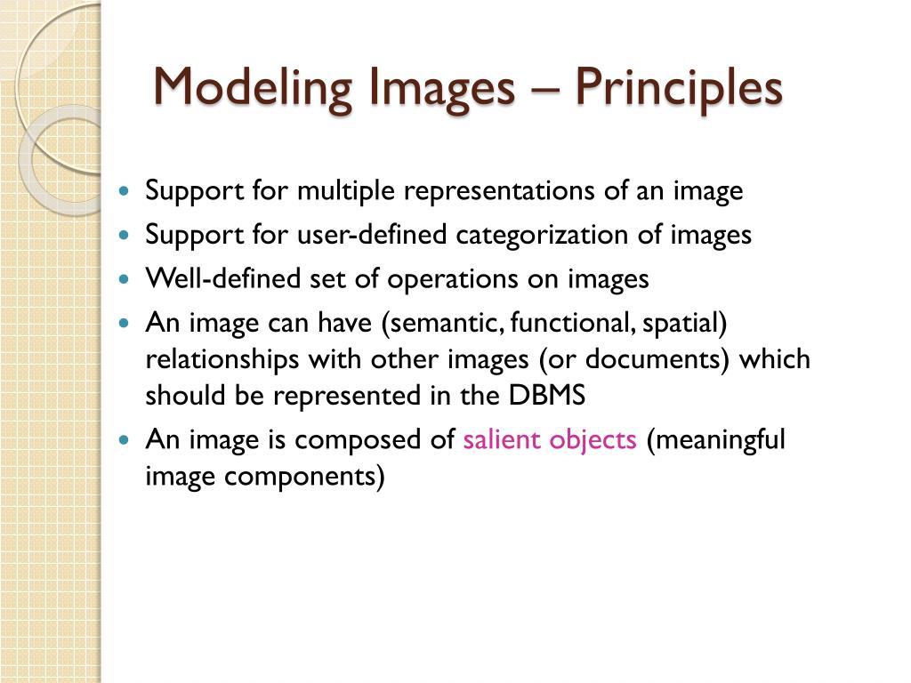 Modeling Images – Principles