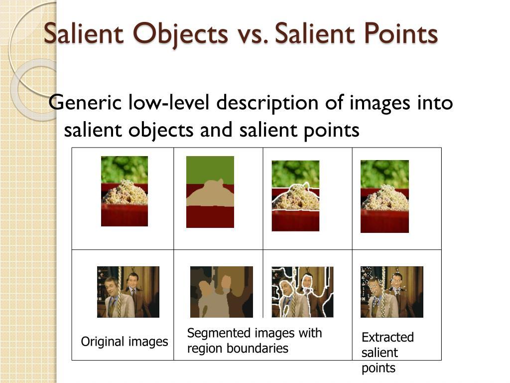 Segmented images with region boundaries