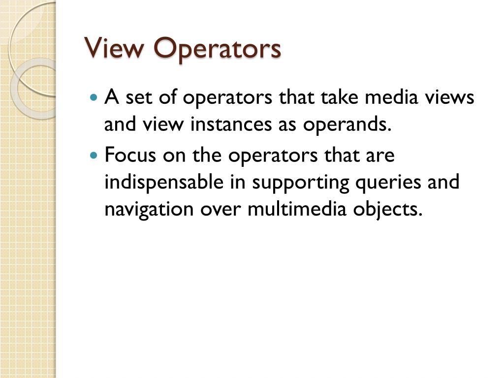 View Operators