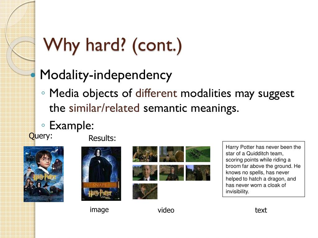 Why hard? (cont.)