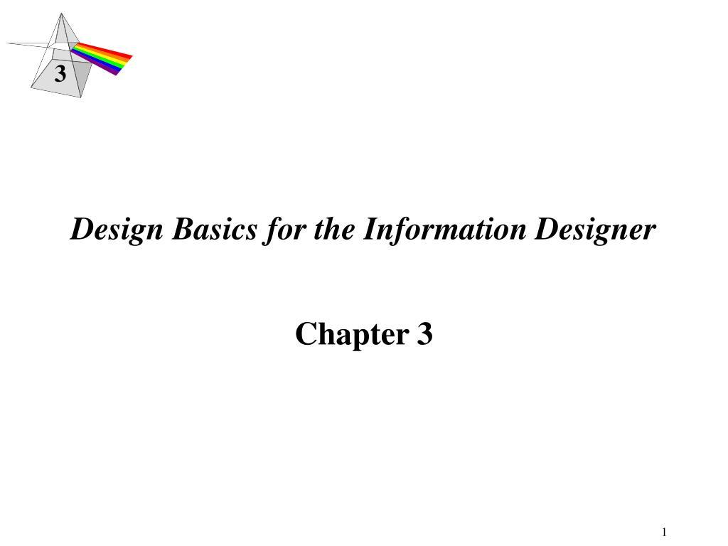 design basics for the information designer l.