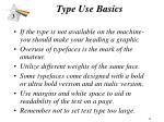 type use basics34