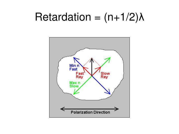 Retardation = (n+1/2)
