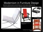 modernism in furniture design