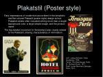 plakatstil poster style