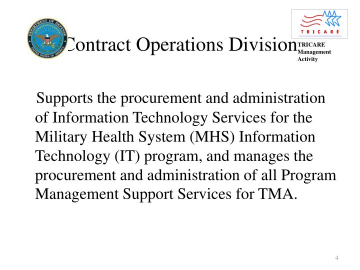 Contract Operations Division