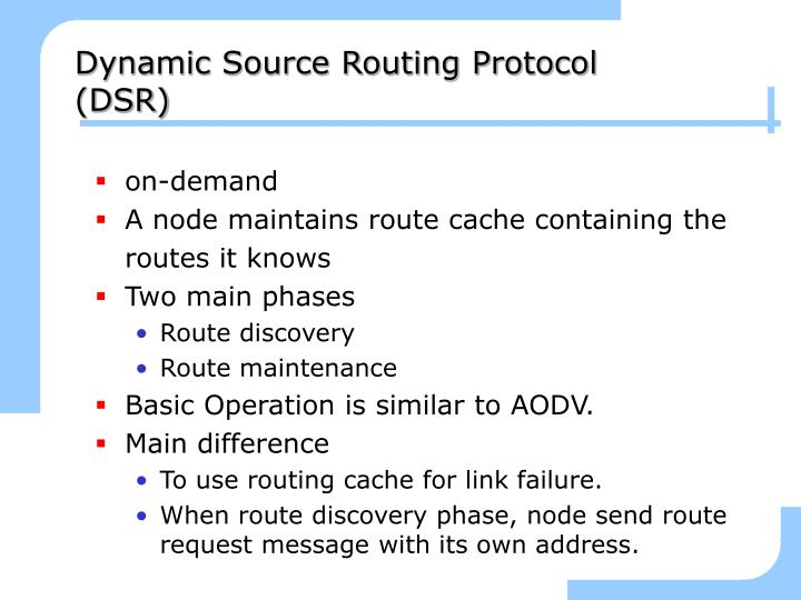 Dynamic Source Routing Protocol