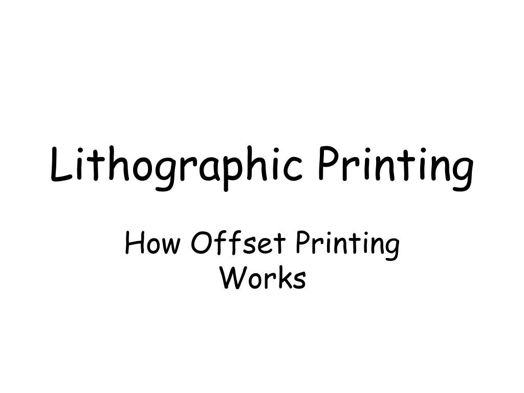lithographic printing l.