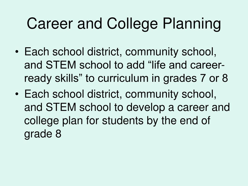 Career and College Planning
