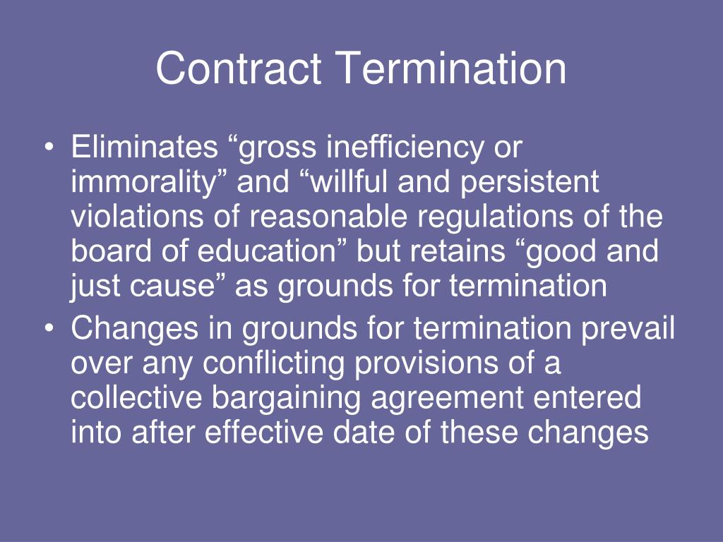 Contract Termination