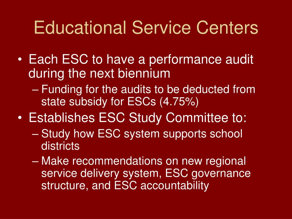 Educational Service Centers