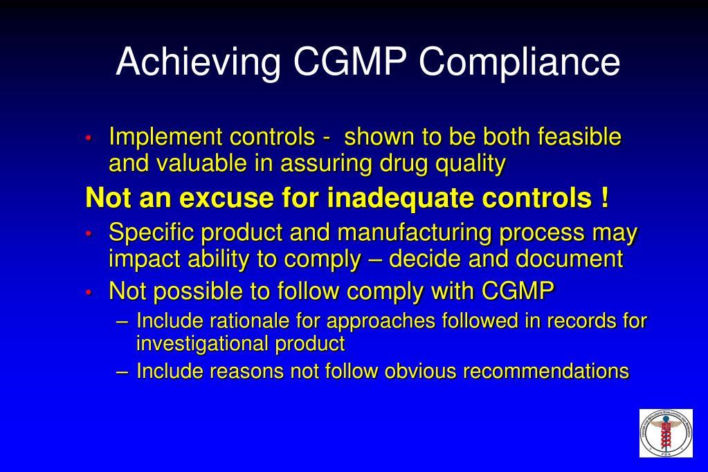 Achieving CGMP Compliance