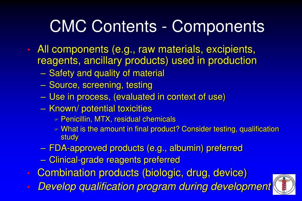 CMC Contents - Components