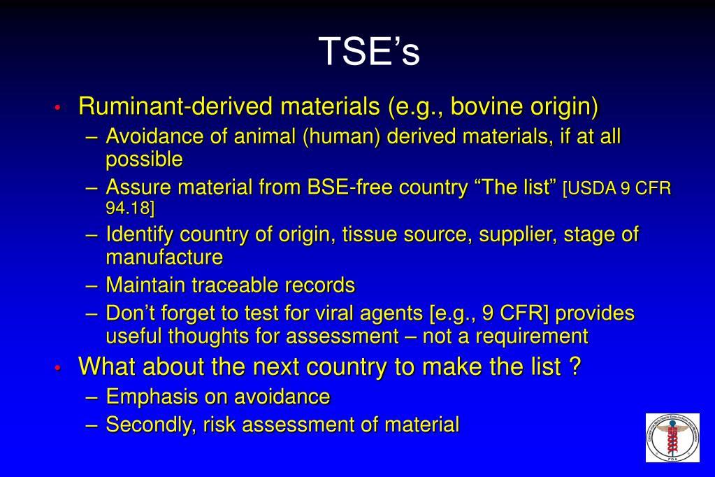TSE's