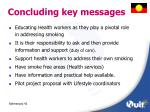 concluding key messages