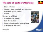 the role of partners families
