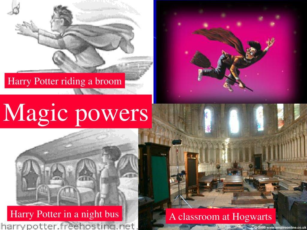 Harry Potter riding a broom