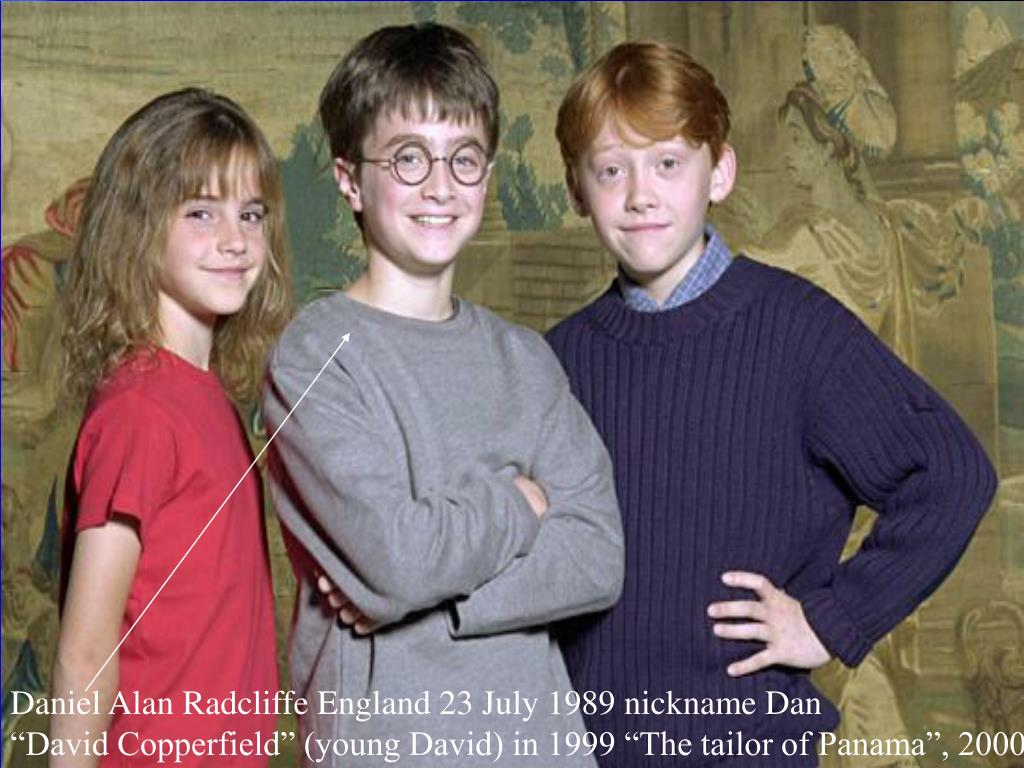 Daniel Alan Radcliffe England 23 July 1989 nickname Dan