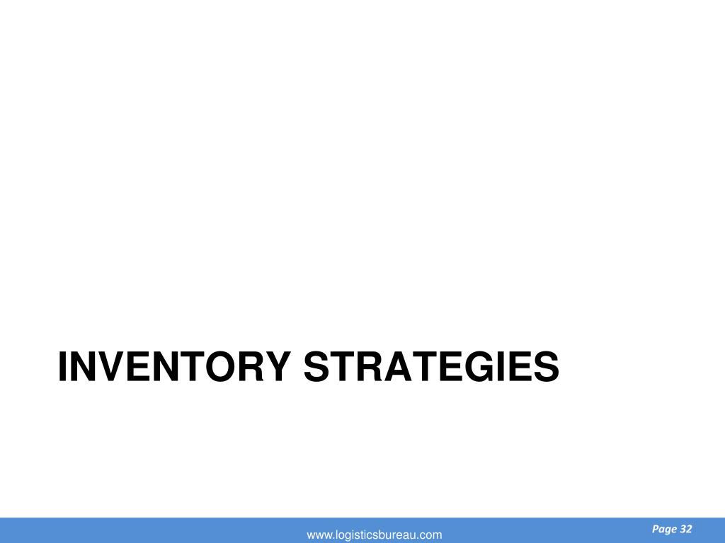 Inventory strategies