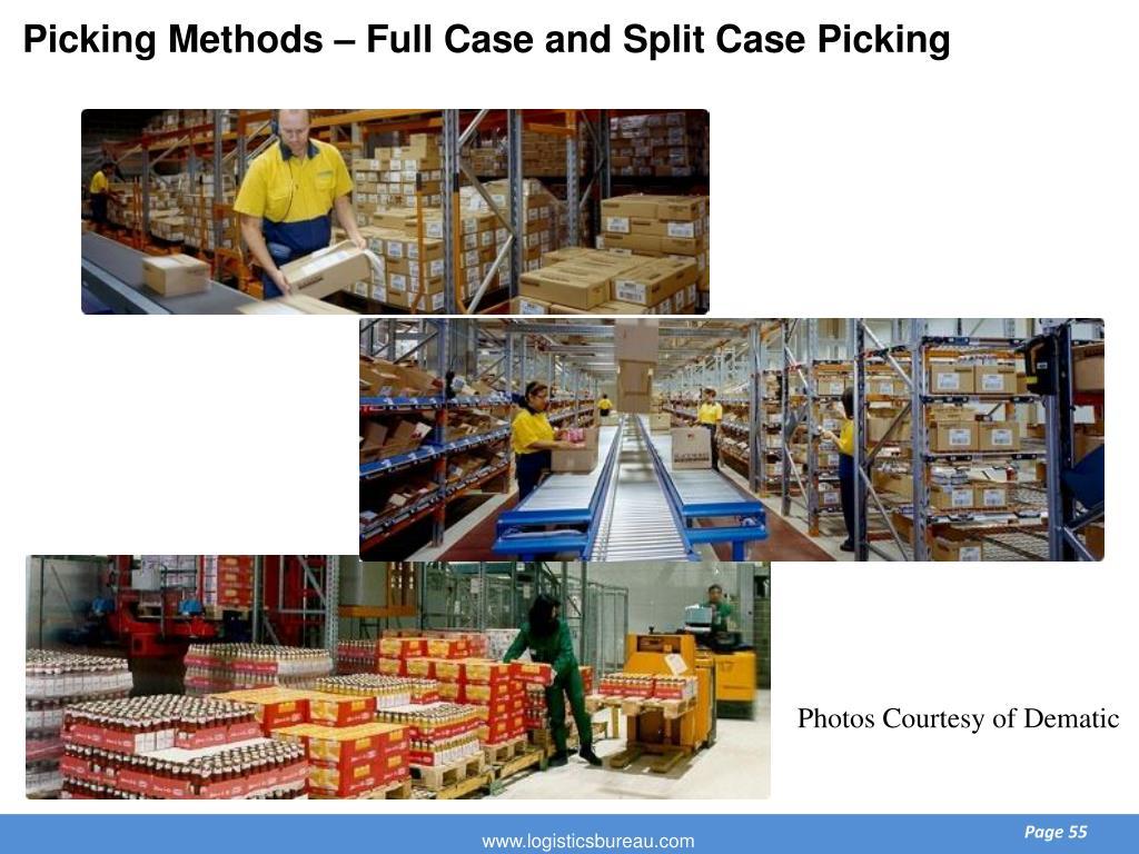Picking Methods – Full Case and Split Case Picking