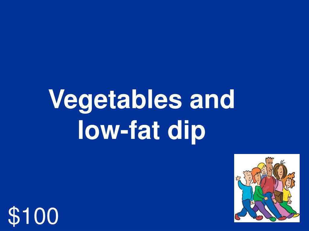 Vegetables and low-fat dip