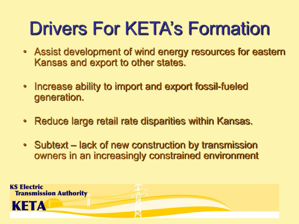 Drivers For KETA's Formation