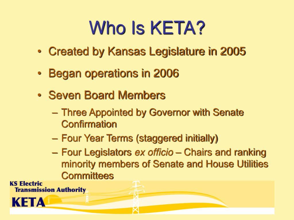 Who Is KETA?