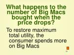 what happens to the number of big macs bought when the price drops