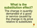what is the substitution effect